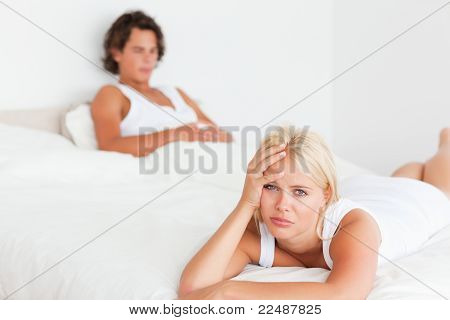 Upset Couple After Having An Argument