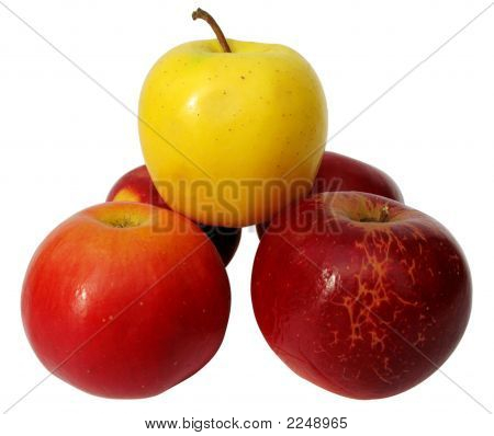5 Apples Isolated On White