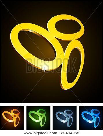 Vector EPS8 illustration of shiny symbols.