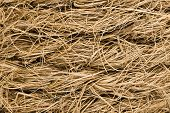stock photo of coir  - Coarse coir rope texture - JPG