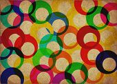 colored rings canvas background