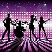 picture of rock star  - music live band on stage vector illustration - JPG