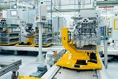 Modern Automobile Production Line, Automated Production Equipment. poster