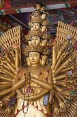 image of budha  - Guan yin a thousand hand  budha in chinese believe - JPG