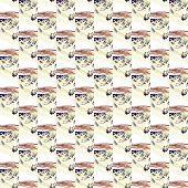 Grunge Seamless Yellow Texture Broken Fractal Patterns poster