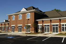 stock photo of medical office  - New commercial building with retail medical and office space available for lease - JPG