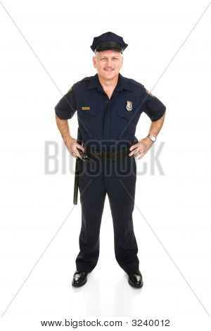 Police Officer Full Body Front