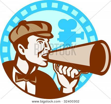 movie director shouting using bullhorn