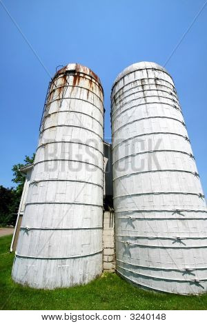 Twin Towers Of Old Barn