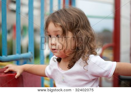 Cute Asian Baby Outdoors