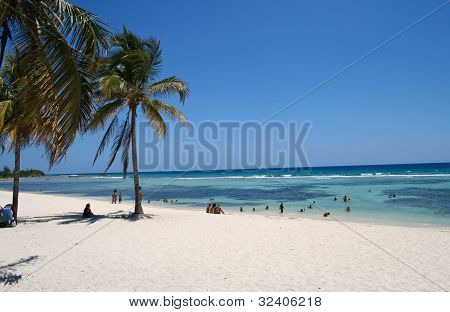 The beach on the Caribbean Sea