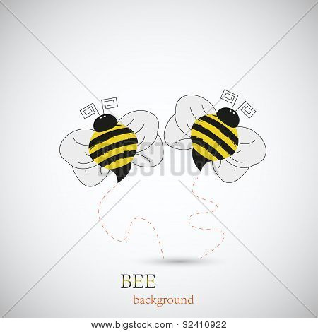 Bee For Your Design. Vector Illustration. Best Choice