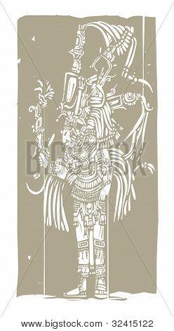 Mayan A Woodblock