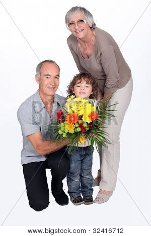 grandparents and grandson