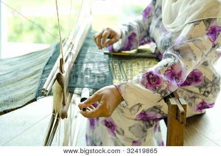 The process of traditional Songket weaver