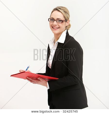 Smiling Friendly Secretary Or Assistant