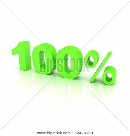 100 percent green