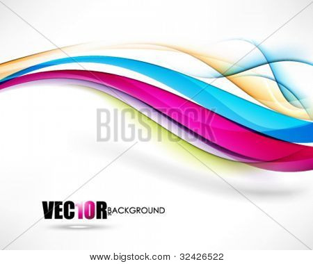 eps10 vector multicolor wave isolated on white background design