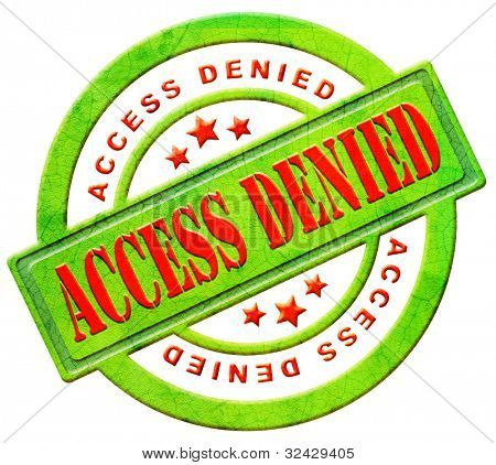 access denied closed don't enter confidential unauthorized no permission