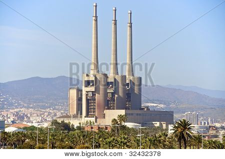 Barcelona. An old deactivated power plant