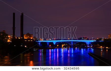 35W Bridge At Night
