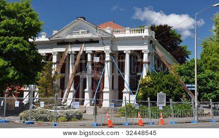 Terremoto de Christchurch - salvando o edifício de Igreja Batista.