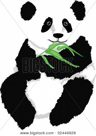 Panda With Branch