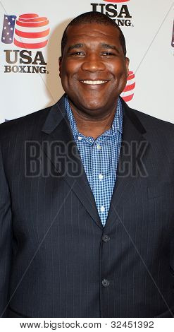 BEVERLY HILLS, CA. - APRIL 24: NFL talk show host Curt Menefee arrives at the USA boxing benefit at the Paley Center for the Media on April 24 2012 in Beverly Hills.