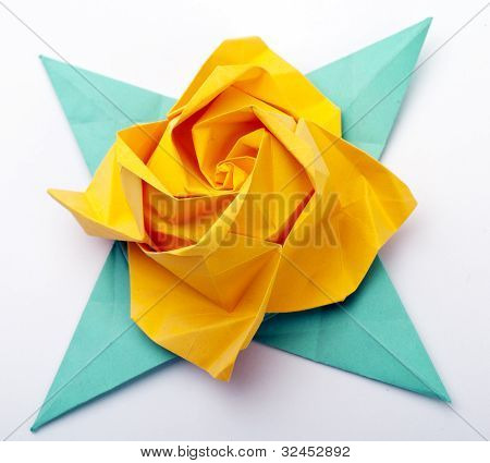 Origami A Yellow Rose
