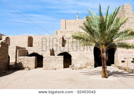 Courtyard Of Medieval Mamluks Fort In Aqaba