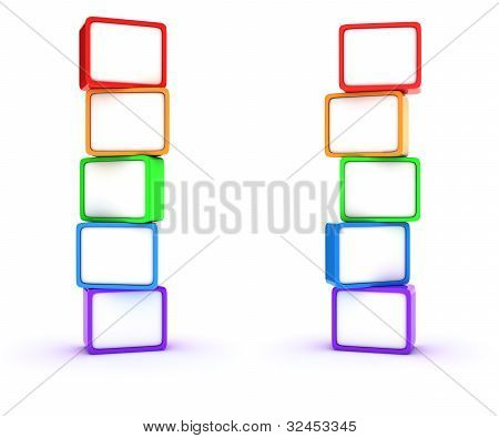 Columns Of Cubes