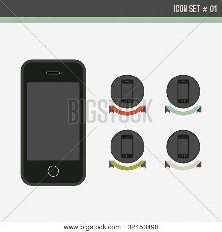 Retro style Design elements, Vector Icon set.