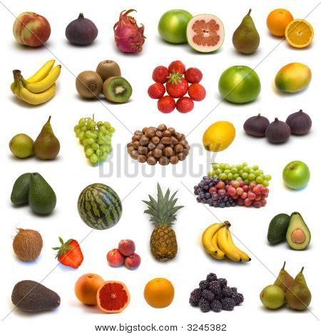 Large Page Of Fruits And Nuts