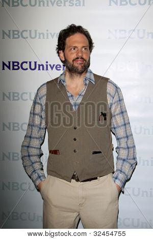 PASADENA - APR 18:  Silas Weir Mitchell  arrives at the NBCUniversal Summer Press Day at The Langham Huntington Hotel on April 18, 2012 in Pasadena, CA