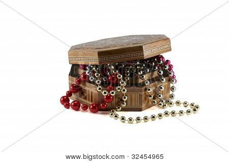 Chest Box With Pearls.