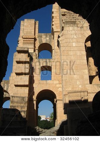 The amphitheater in El-Jem, Tunisia