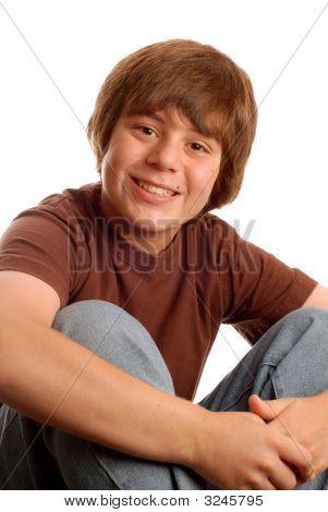 Happy Tween Or Teen Boy