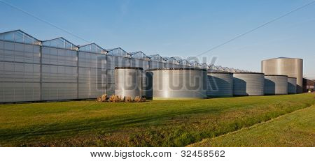 Tank Storage For A Modern Greenhouse Complex