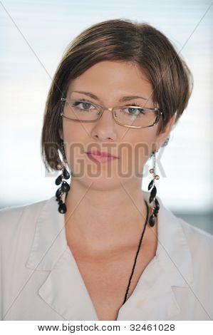 Portrait of beautiful female chemist