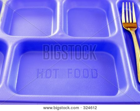 School Lunch Tray With Fork