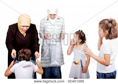 Muslim mothers bought presents for their kids