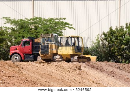 Loaders And Dump Truck