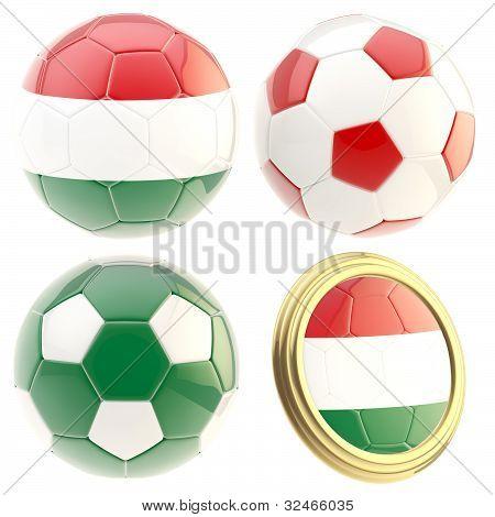 Hungary football team attributes isolated