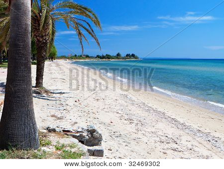 Beach at Chalkidiki in Greece