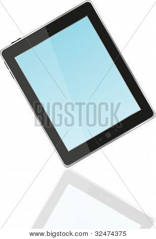 Black Vector Tablet Pc ipad With Blue Screen