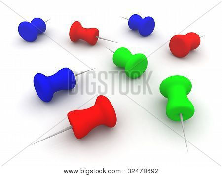 Colored Pins