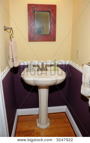 Pedestal Sink Powder Room Stock Photo & Stock Images Bigstock
