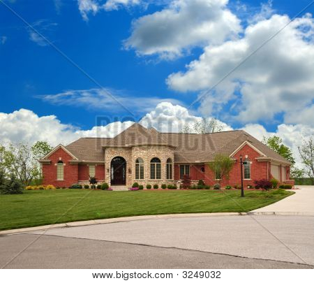 Brick Suburban Ranch Home