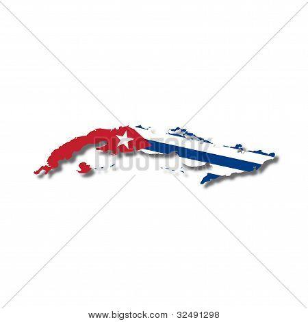 map flag Cuba