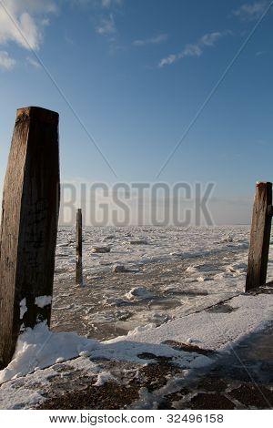 frozen Wadden Sea
